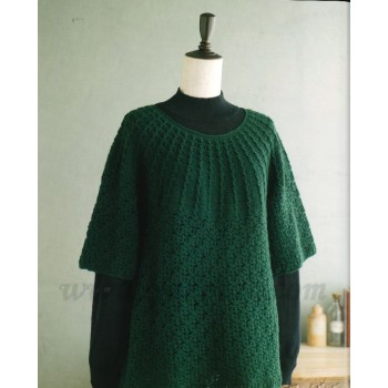 NV70428 由領口往下鉤  Top Down Crocheting +