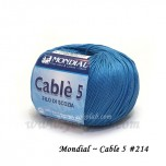 Cable 5 棉線 #214 薩克斯藍