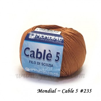 Cable 5 棉線 #235 土黃