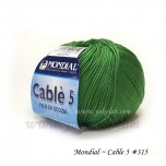 Cable 5 棉線 #315 綠