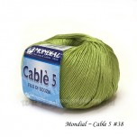 Cable 5 棉線 #38 青綠
