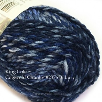 Cotswold Chunky 毛冷- #2376 深藍段染