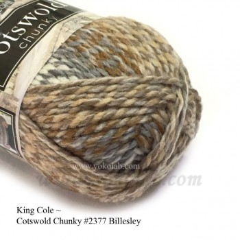 Cotswold Chunky 毛冷- #2377 杏藍段染