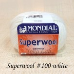 Superwool 毛線 #100 白