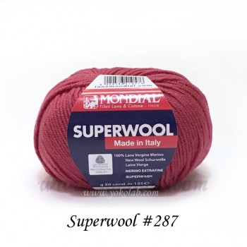 Superwool 毛線 #287 梅子紅
