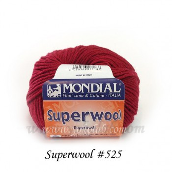 Superwool 棒針貝雷帽 #525 深紅