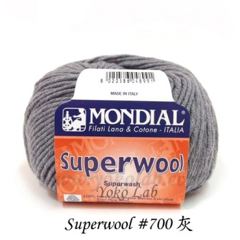 Superwool 毛線 #700 灰