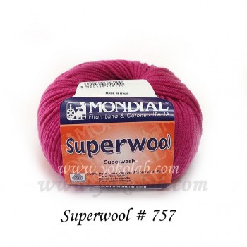 Superwool 毛線 #757 櫻桃紅