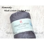Wash Cotton Crochet 棉線 #111 灰紫