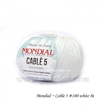 Cable 5 棉線 #100 白